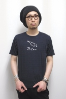 08sircus プリントカットソー NAVY×WHITE