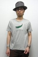 【65%OFF】08sircus プリントカットソー GRAY×GREEN
