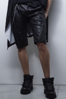 【SOLDOUT】kiryuyrik Leather Shirring Pants Black