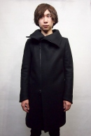 GalaabenD High Collar Coat BLACK