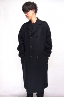Sise 17AW DOUBLE ELEGANT COAT BLACK