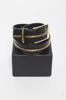 GalaabenD  Belt BLACK×GOLD