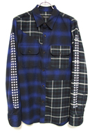 【予約】OVERDESIGN 17FW CRAZY CHECK WORK SHIRTS BLUE