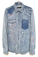 "【予約】OVERDESIGN 17FW DENIM SHIRTS ""PAINT"" CHEMI BL"