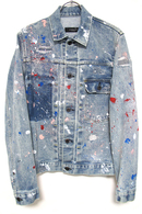 "【予約】OVERDESIGN 17FW DENIM JACKET ""PAINT"" CHEMI BL"