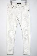 "【予約】OVERDESIGN 17FW NEW SKINNY ""RIPPED"" WHITE"
