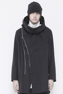 JULIUS WRAPPING HOODED COAT_ju84